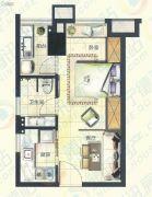 宁德大润发国际广场1室1厅1卫40平方米户型图