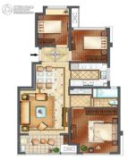 正荣悦玲珑3室2厅1卫85平方米户型图