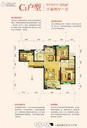 金地格林世界三期3室2厅1卫101平方米户型图