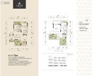 天盈首原2室2厅2卫116平方米户型图