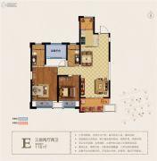 宝能城市广场3室2厅2卫118平方米户型图