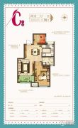 新城・尚上城2室2厅1卫76平方米户型图