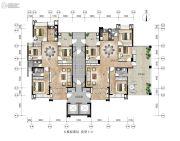 和平金丰广场4室2厅2卫0平方米户型图