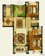 保利公园九里2室2厅2卫114平方米户型图