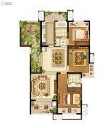 升龙又一城3室2厅2卫137平方米户型图