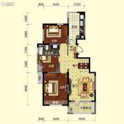 保利溪湖林语3室2厅1卫108平方米户型图