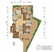 上上城・壹号院5室2厅2卫155平方米户型图