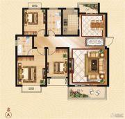 香山华府3室2厅2卫128平方米户型图