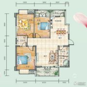 连山鼎府3室2厅2卫117平方米户型图