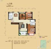 骏景溪悦3室2厅1卫112平方米户型图