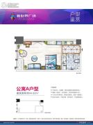 新世界广场1室1厅1卫44平方米户型图