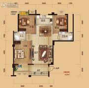 金色公馆3室2厅2卫108平方米户型图