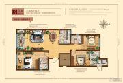奥北公元3室2厅2卫120平方米户型图