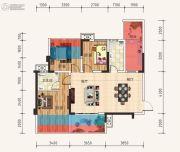 天立・学府华庭3室2厅2卫89平方米户型图