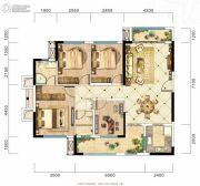 旷远・洋湖18克拉4室2厅2卫126平方米户型图