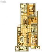 银亿格兰郡3室2厅1卫90平方米户型图