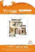 碧桂园珊瑚宫殿3室2厅1卫98--99平方米户型图