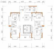 保华铂郡4室2厅2卫140平方米户型图