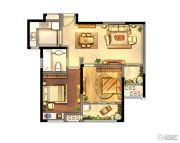 绿地峰云汇2室2厅1卫83平方米户型图