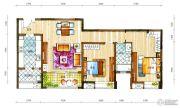 新鸿基悦城2室2厅1卫117平方米户型图