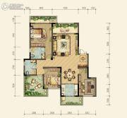 约克郡北区3室2厅2卫0平方米户型图