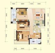 金水湾3室2厅1卫92平方米户型图