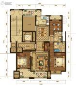 半岛名苑3室2厅2卫143平方米户型图