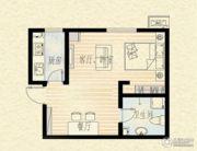 乐海公馆1室1厅1卫0平方米户型图