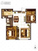 大成门2室2厅1卫88平方米户型图