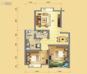 中虹新城2室2厅1卫78平方米户型图
