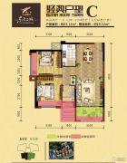 东方名城2室2厅1卫83平方米户型图