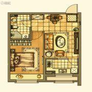 银亿格兰郡1室1厅1卫55平方米户型图