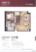 泰地海西中心2室2厅1卫77平方米户型图