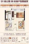 恒福曦园2期・天曦1室1厅1卫41平方米户型图