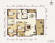 鹏利广场3室2厅2卫138平方米户型图