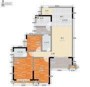 东岭国金中心3室0厅2卫108平方米户型图