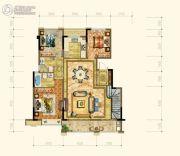 黄岩中梁香缇公馆4室2厅3卫152平方米户型图