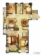 翠屏城4室2厅2卫117平方米户型图