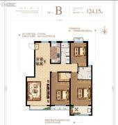 泰华・梧桐苑一期3室2厅2卫124平方米户型图