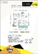九鑫嘉园3室2厅1卫114平方米户型图