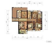 九方城3室2厅2卫140平方米户型图