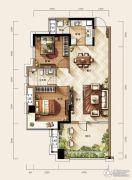 天玺二期2室2厅1卫87平方米户型图
