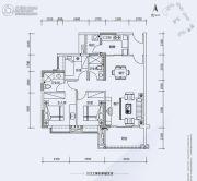 翔隆七色城邦3室2厅1卫101平方米户型图