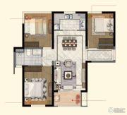 中航国际社区3室2厅1卫95平方米户型图