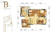 人居天府汇城3室2厅1卫97平方米户型图