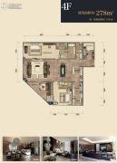 杭州印2室2厅3卫278平方米户型图