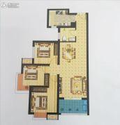 启迪国际城・逸居3室2厅1卫99平方米户型图