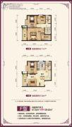 水岸公馆4室2厅2卫129平方米户型图