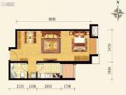 保利达大象公寓1室1厅1卫57平方米户型图