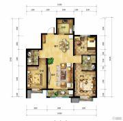 北郡帕提欧3室2厅2卫113平方米户型图